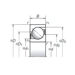 120 mm x 260 mm x 55 mm  NSK 120TAC03CMC Super Precision Bearings