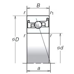 75 mm x 115 mm x 24 mm  NSK 75BNR20HV1V Super Precision Bearings