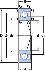 40 mm x 68 mm x 15 mm  SKF 7008 CE/HCP4A Super Precision Bearings