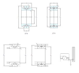 180 mm x 280 mm x 45 mm  SKF BTM 180 BM/HCP4CDB Super Precision Bearings