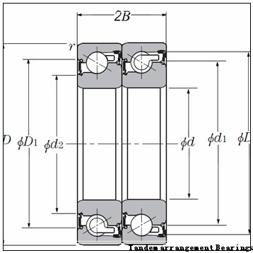 NSK 234409M.SP Tandem arrangement Bearings