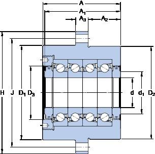 SKF FBSA 205/QBC Super Precision Bearings