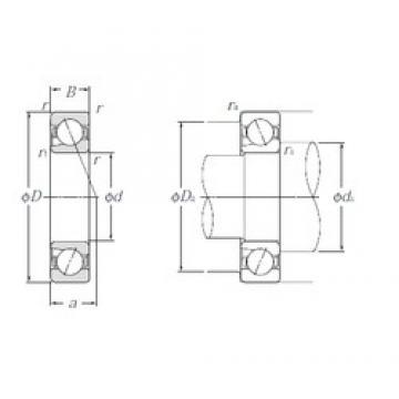 17 mm x 40 mm x 12 mm  NTN 5S-BNT203 Work Head Spindle bearing