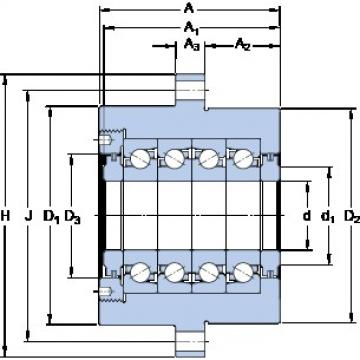 SKF FBSA 207/QFC Ultra-high-speed angular contact ball bearings