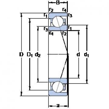 75 mm x 105 mm x 16 mm  SKF 71915 ACE/HCP4A Super high-speed angular contact ball bearings