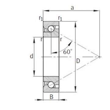 45 mm x 75 mm x 15 mm  FAG BSB045075-T TAC series for ball screw support