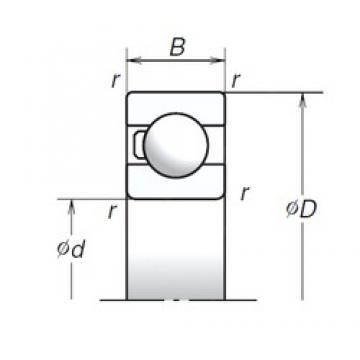 35 mm x 62 mm x 14 mm  NSK 6007T1X Thrust Load Angular Contact Ball Bearings