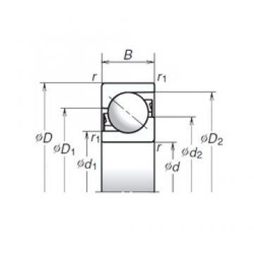 35 mm x 90 mm x 23 mm  NSK TAC35-2T85 Ultra-high-speed angular contact ball bearings