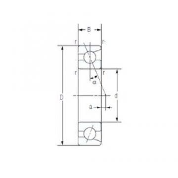 25 mm x 47 mm x 12 mm  NACHI 7005AC Ultra-high-speed angular contact ball bearings