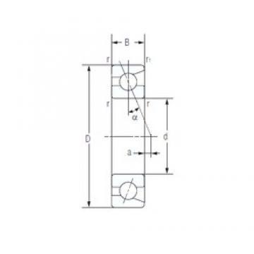 60 mm x 110 mm x 22 mm  NACHI 7212AC Super-precision bearings