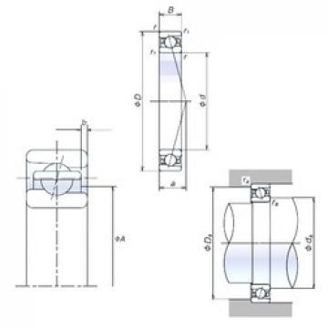 90 mm x 140 mm x 24 mm  NSK 90BNR10X Thrust Load Angular Contact Ball Bearings