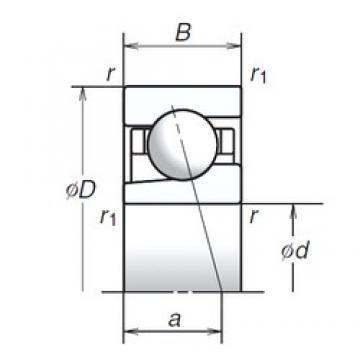 12 mm x 24 mm x 6 mm  NSK 12BGR19H Universal Combination Precision Bearings