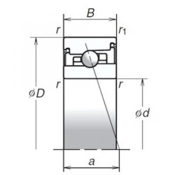 70 mm x 110 mm x 24 mm  NSK 70BER20HV1V Super Precision Sealed Angular Contact Ball Bearings