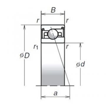 100 mm x 140 mm x 24 mm  NSK 100BER29SV1V TAB High Durability Ball Screw Support Bearing