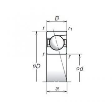 6 mm x 17 mm x 6 mm  NSK 706A Super-precision bearings