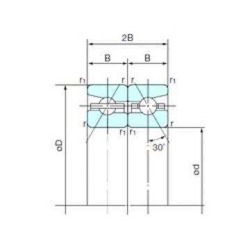 55 mm x 90 mm x 16,5 mm  NACHI 55TAH10DB Work Head Spindle bearing