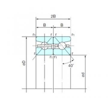 80 mm x 125 mm x 20,25 mm  NACHI 80TBH10DB Work Head Spindle bearing
