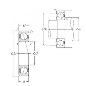 30 mm x 42 mm x 7 mm  NTN 7806C Super high-speed angular contact ball bearings