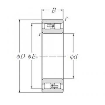 25 mm x 47 mm x 16 mm  NTN NN3005 TAC series for ball screw support