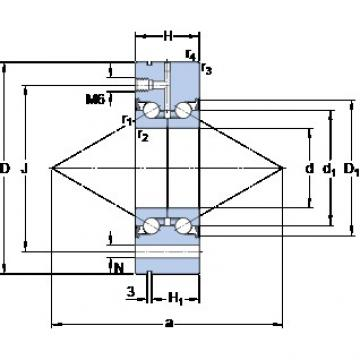 SKF BEAM 017062-2RS/PE Standard angular contact ball bearing