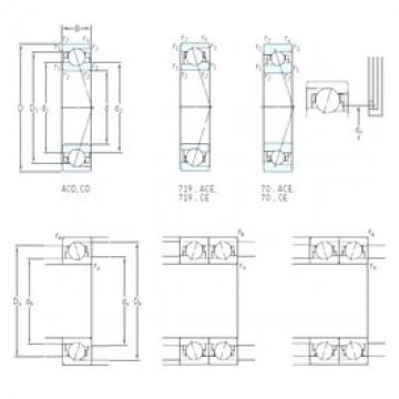 170 mm x 260 mm x 42 mm  SKF 7034 ACD/P4A Special Polyamide cage design Precision Bearings