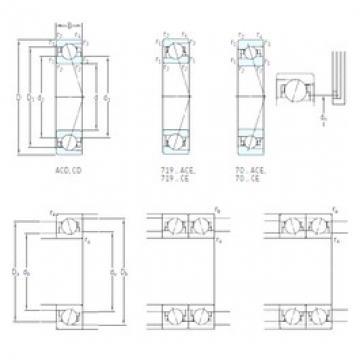 45 mm x 68 mm x 12 mm  SKF 71909 ACB/HCP4A Standard angular contact ball bearing