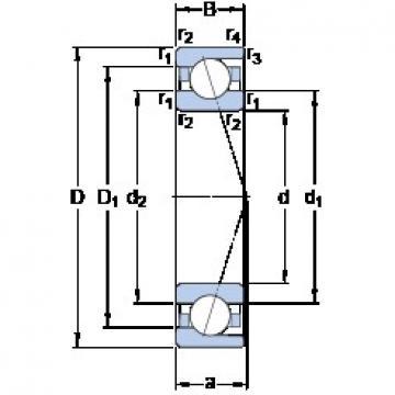 70 mm x 90 mm x 10 mm  SKF 71814 CD/HCP4 TAB High Durability Ball Screw Support Bearing