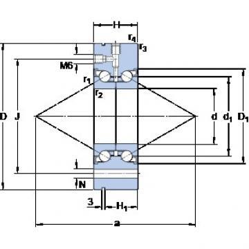 SKF BEAM 020068-2RZ Thrust Load Angular Contact Ball Bearings