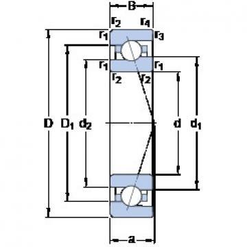 30 mm x 55 mm x 13 mm  SKF 7006 ACE/P4A Standard angular contact ball bearing