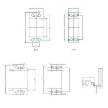 180 mm x 280 mm x 60 mm  SKF BTW 180 CM/SP usual arrangements  Precision Bearings