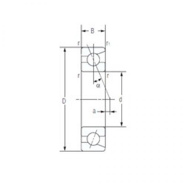 80 mm x 140 mm x 26 mm  NACHI 7216AC Thrust Load Angular Contact Ball Bearings #2 image
