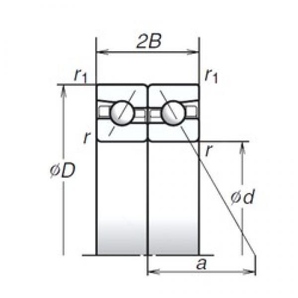 110 mm x 170 mm x 27 mm  NSK 110BAR10S TAB High Durability Ball Screw Support Bearing #2 image