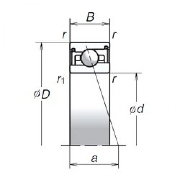 100 mm x 140 mm x 24 mm  NSK 100BER29SV1V TAB High Durability Ball Screw Support Bearing #2 image