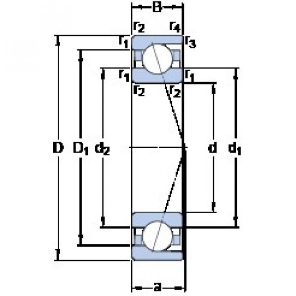 180 mm x 250 mm x 33 mm  SKF 71936 CD/P4A Special EP (Extra Pure) steel Precision Bearings #2 image