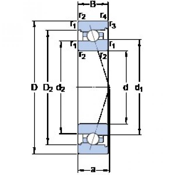 70 mm x 110 mm x 20 mm  SKF 7014 CB/HCP4A Standard angular contact ball bearing #2 image