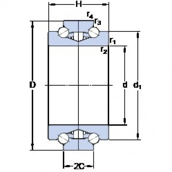 SKF BTW 110 CTN9/SP TAB High Durability Ball Screw Support Bearing #2 image